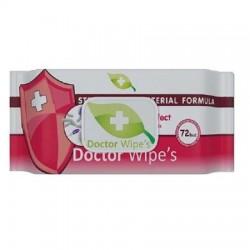 Servetele umede antibacteriene Doctor Wipes 72 buc cu capac