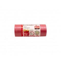 Saci rosii pentru gunoi menajer si colectare selectiva, 60 L